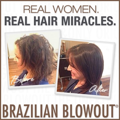 Opulence Tanning and Salon Brazilian Blowout Ad Real Hair Miracles